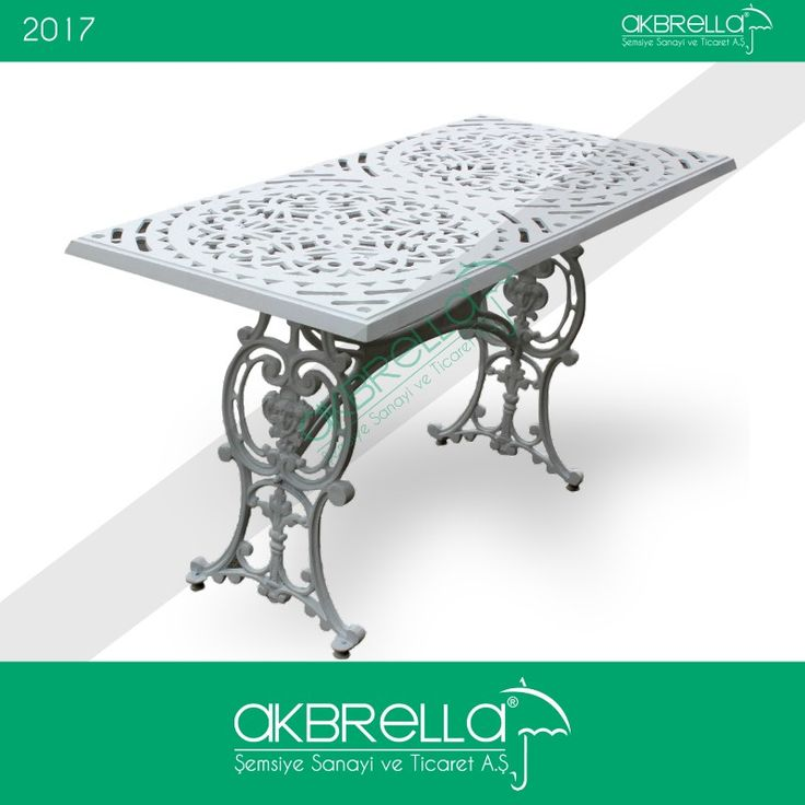 Osmanlı figürleri taşıyan büyük boy dikdörtgen bu alüminyum döküm masasın farklı renk ve farklı desenlerini Akbrella sitemizde yakından inceleyebilir online alışverişte bulunabilirsiniz #osmanlımasası #yemekmasası #bahçemasası