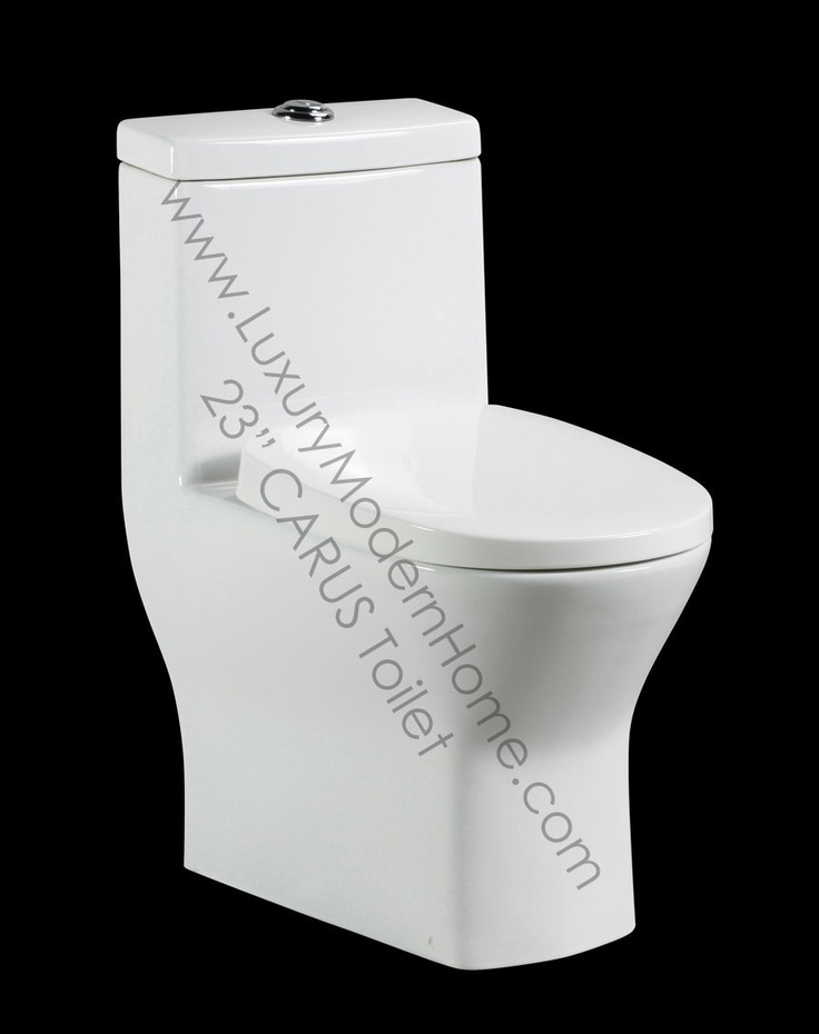 "Tiny Toilet #2: CARUS TOILET - 23"" Inch Small Compact ADULT Short Smallest Shortest Projection Tiny One Piece Toilet - Amazon.com"