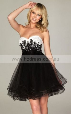 A-line Sweetheart Knee-length Tulle Empire Cocktail Dresses gt0910--Hodress