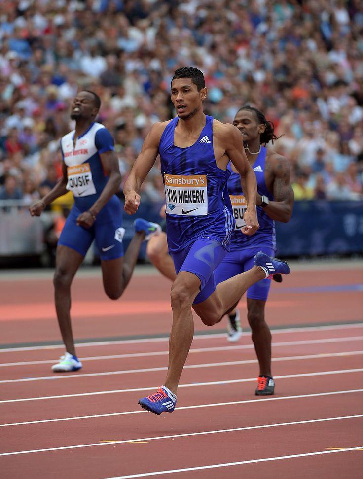 Wayde van Niekerk - Men's 400m - London 2015 - Wayde van Niekerk (RSA) clocked 44.63 winning the Men's 400m on Day 2 of the 2015 Sainsbury's Anniversary Games in London, member of the IAAF Diamond League