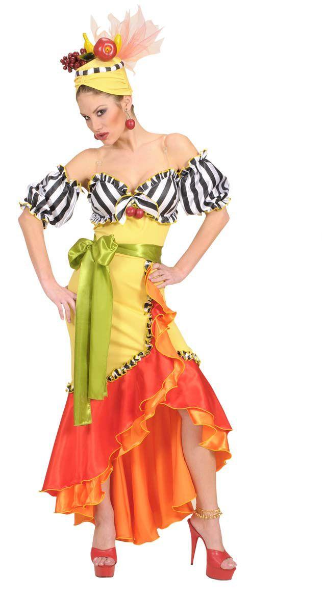 Carmen Miranda Dress | Party Props - Deluxe Carmen Miranda Costume Fancy Dress Medium