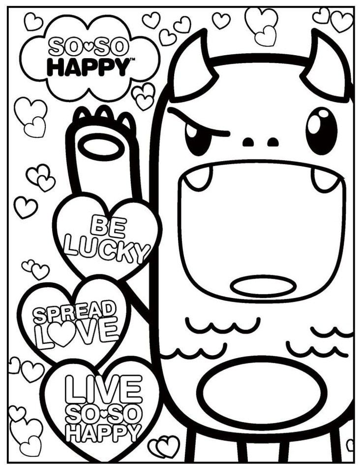 Cute Kawaii Coloring Pages 4 By Crystal Cute Coloring Pages Disney Coloring Pages Coloring Pages