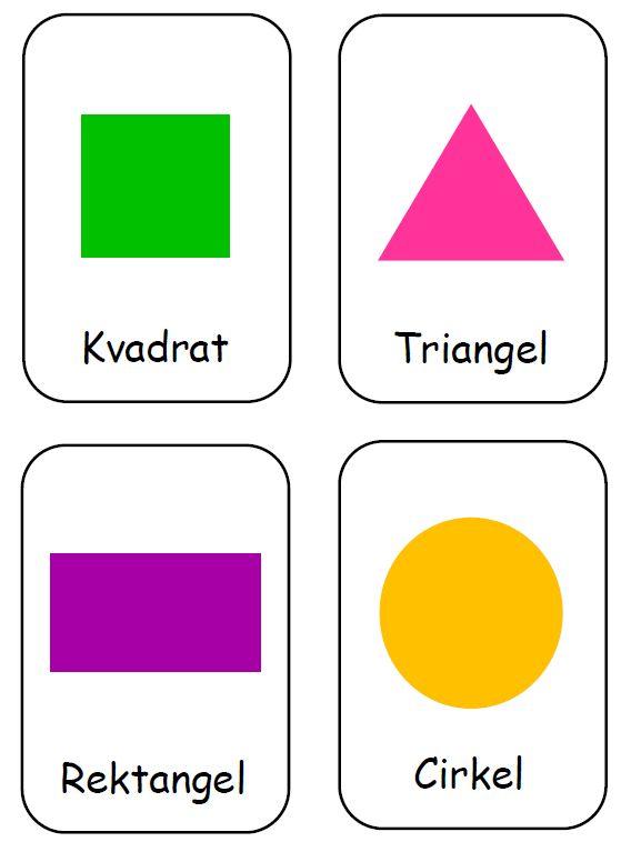Geometriska figurer – ett arbetsmaterial | Emma