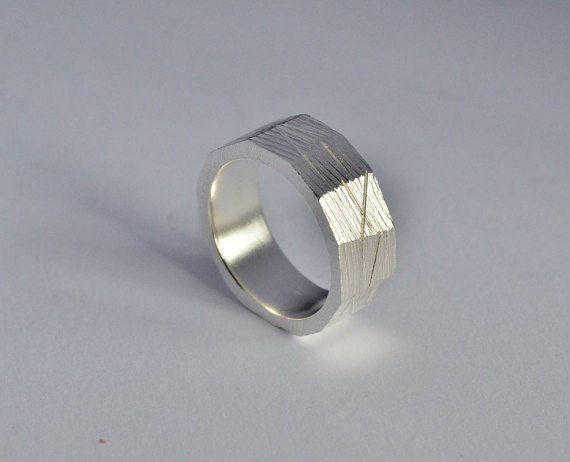 Anello uomanello argento 925anello bullonefede di VMJewelryDesign