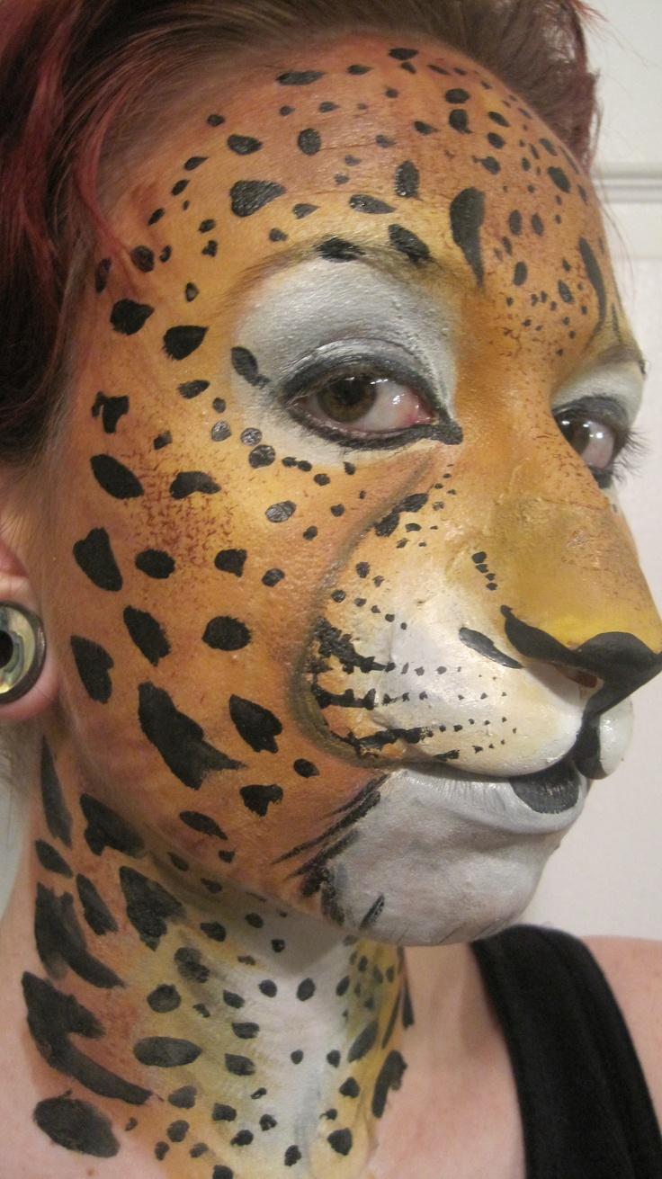 Leopard full face paint | Face Painting | Pinterest