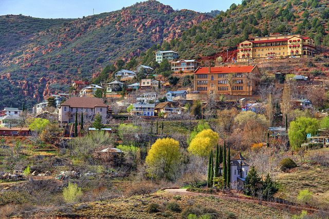 Goldfield, AZ (old mining town), View of Superstition ... |Arizona Mining Towns