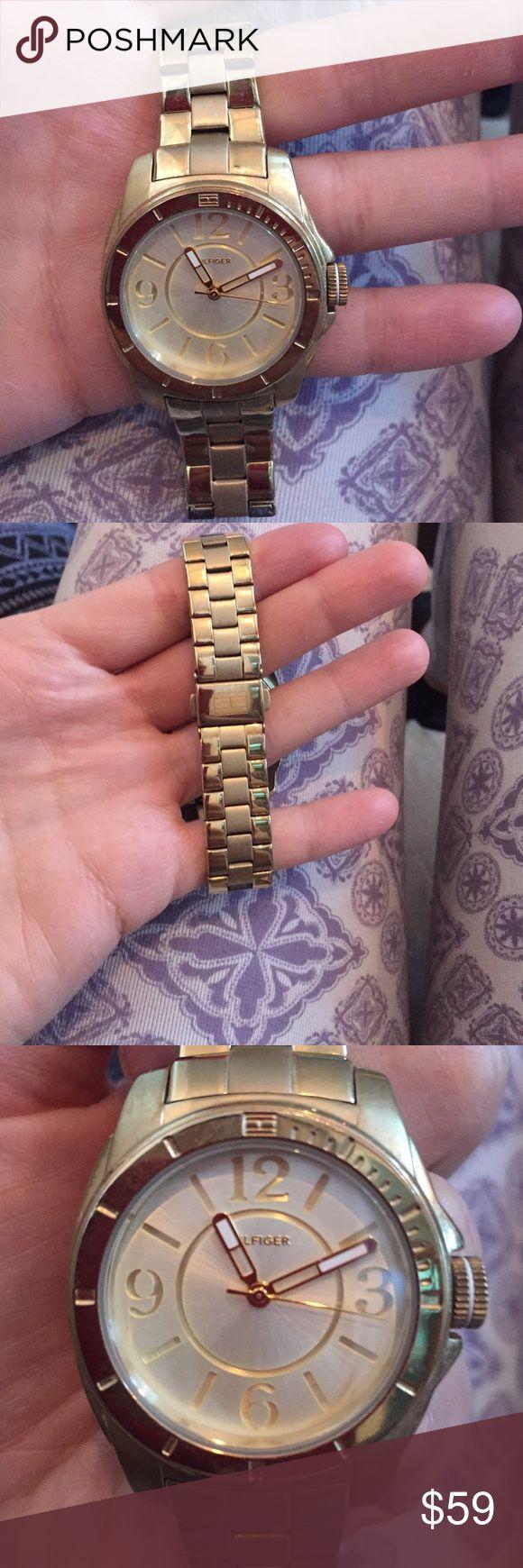 Tommy Hilfiger Watch Work lightly, works, gold Tommy Hilfiger watch. Tommy Hilfiger Accessories Watches
