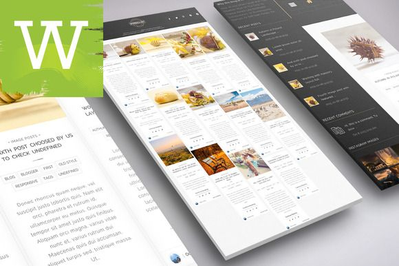 Grid Masonry WordPress Blog Theme by Wordica on ETSY