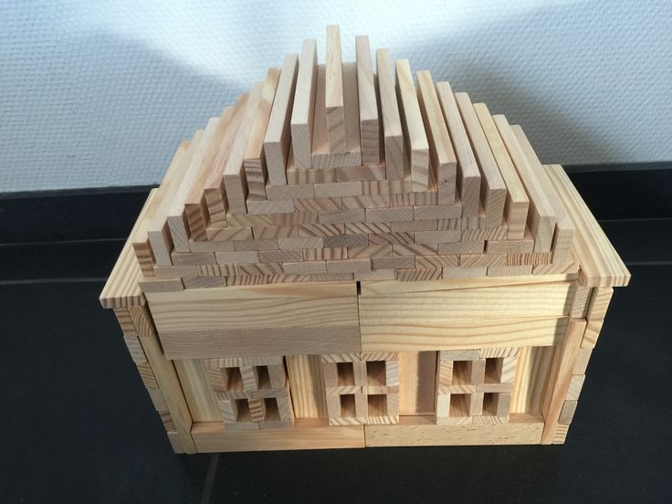 Kapla house, made by Oliver