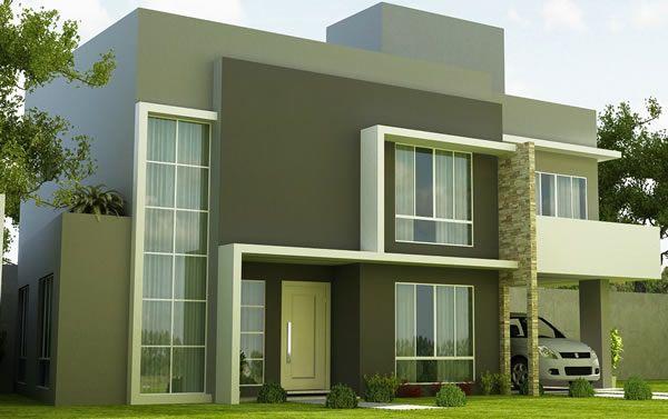 Fachadas de casas duplex lagoa dos esteves pinterest for Modelos de frentes de casas