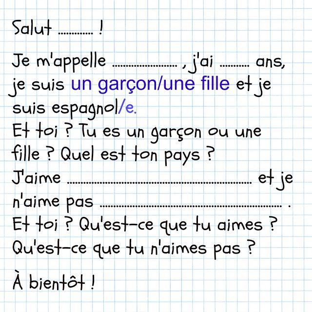 Francés hasta en la sopa...: La lettre