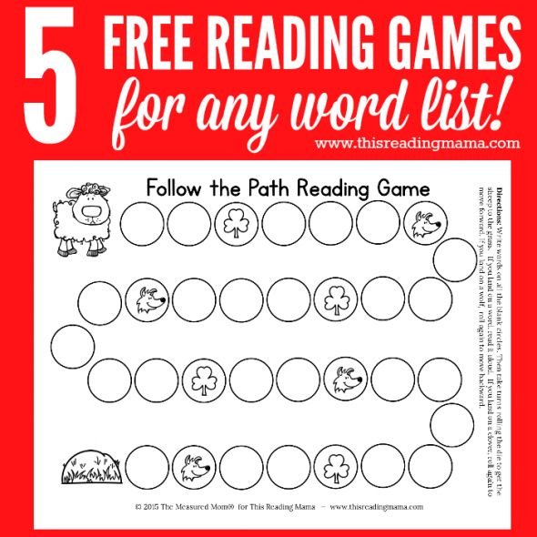 free reading games for any word list square image