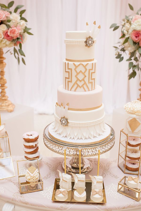 25 best ideas about 1920s wedding cake on pinterest art for Art deco cake decoration