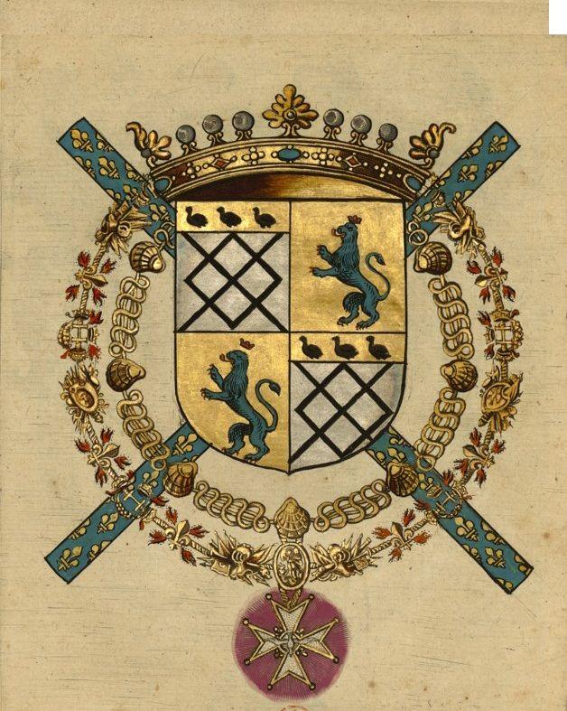 ESTRÉES_Famille d'  / François-Annibal Ier. d'Estrées, 2e. Marquis de Coeuvres, 1er. Duc d'Estrées, Maréchal & Pair de France.