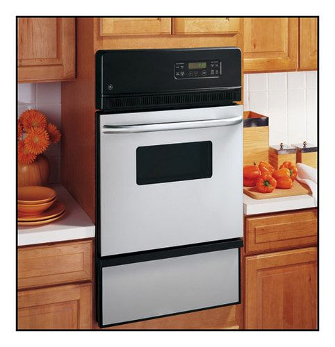 """GE - 24"""" Built-In Single Gas Wall Oven - Stainless steel (Silver)"""