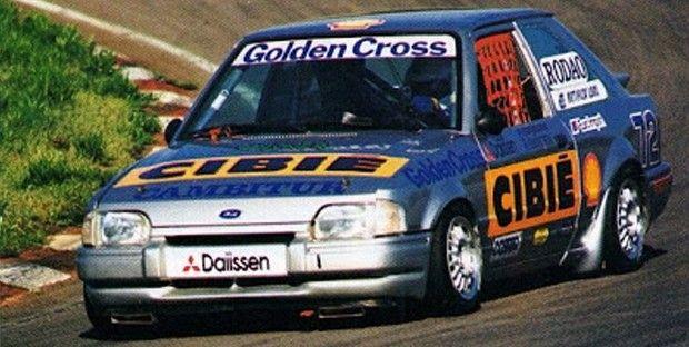 O Ford Escort de Mattheis e Júdice campeão de 1993. (Foto: Reprodução)