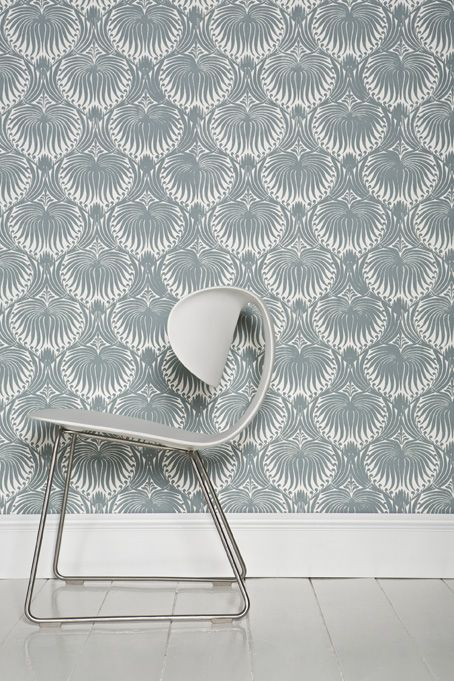 farrow ball lotus bp2054 wallpaper with skirting and floor in wimborne white estate eggshell. Black Bedroom Furniture Sets. Home Design Ideas