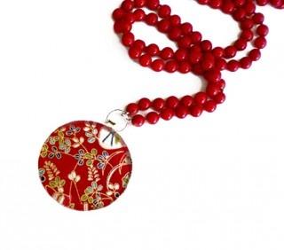 Coral Silk-strung Neckpiece