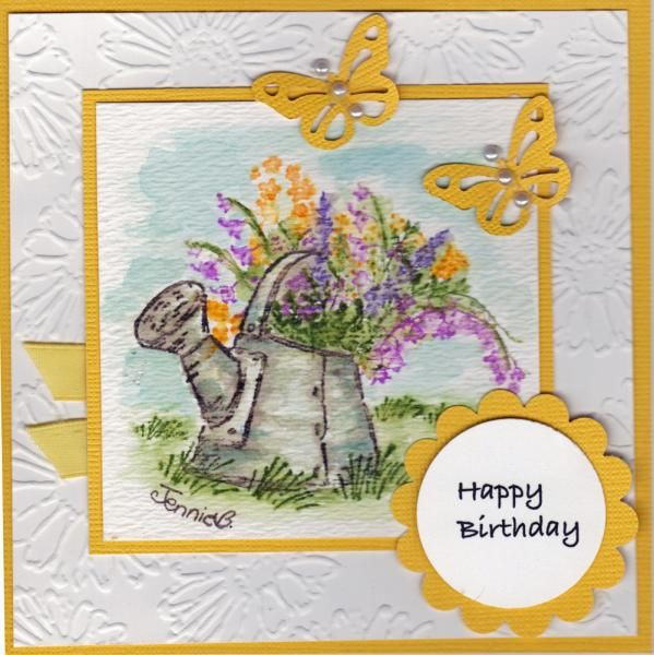 Yellow - Watercolor Can by jennie black - Cards and Paper Crafts at Splitcoaststampers