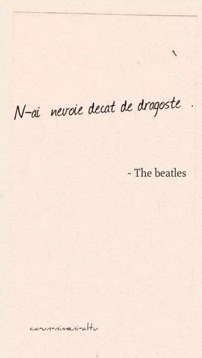 N-ai nevoie decât de dragoste. ❤️