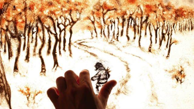 Making of the sand animation short film Zepo.  Music: cesarlinga. Accordion cover from Vai Vedrai - Cirque du Soleil     Como se hizo el cortometraje de animación con arena Zepo.   Tres meses de rodaje, usando una mesa de luz, una cámara de fotos para capturar cada fotograma y arena de playa para el color marrón, volcánica para la negra, sales de baño naranja y sal de mesa para el gris y blanco.