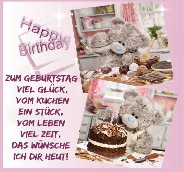 Zum Geburtstag viel glück, vom kuchen ein stück, vom leben viel zeit