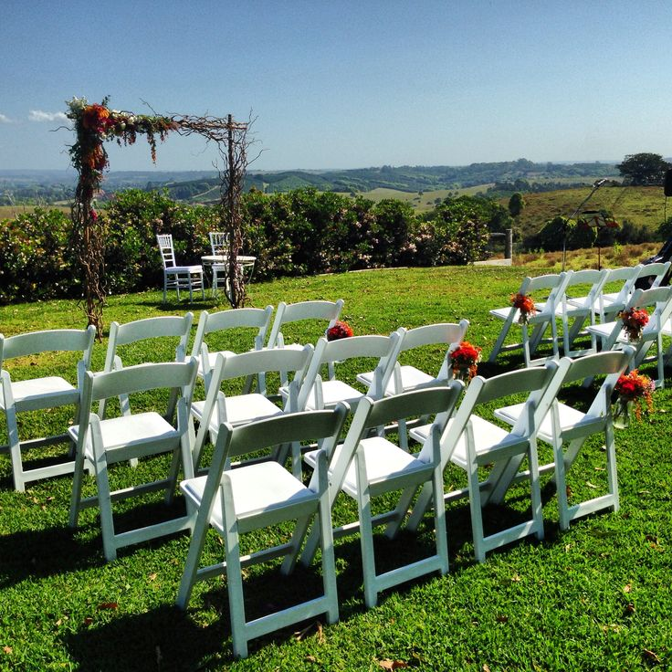 Byron View Farm wedding setting.