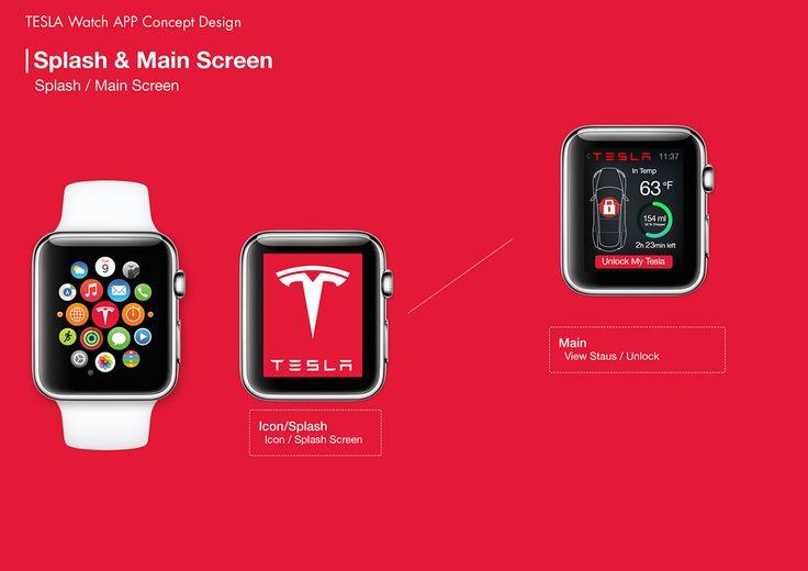 TESLA Watch App Concept Design on Behance