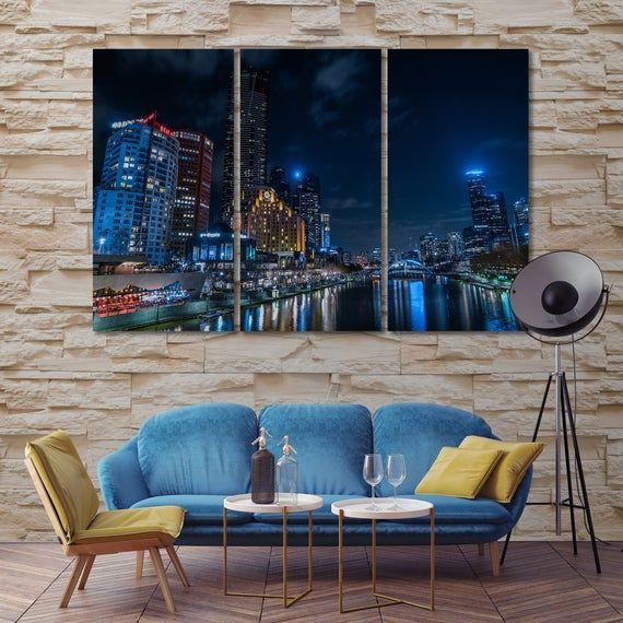 Canvas Set Of Melbourne City Australia Wall Art Decor Etsy In 2020 Canvas Wall Decor Australia Wall Art Modern Wall Decor