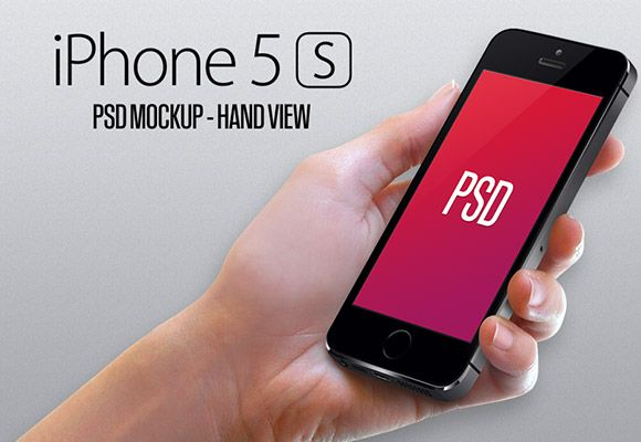 Here is the PSD mockup of an hand holding an iPhone5S. Free PSD created and released by Gwénolé Jaffrédou.
