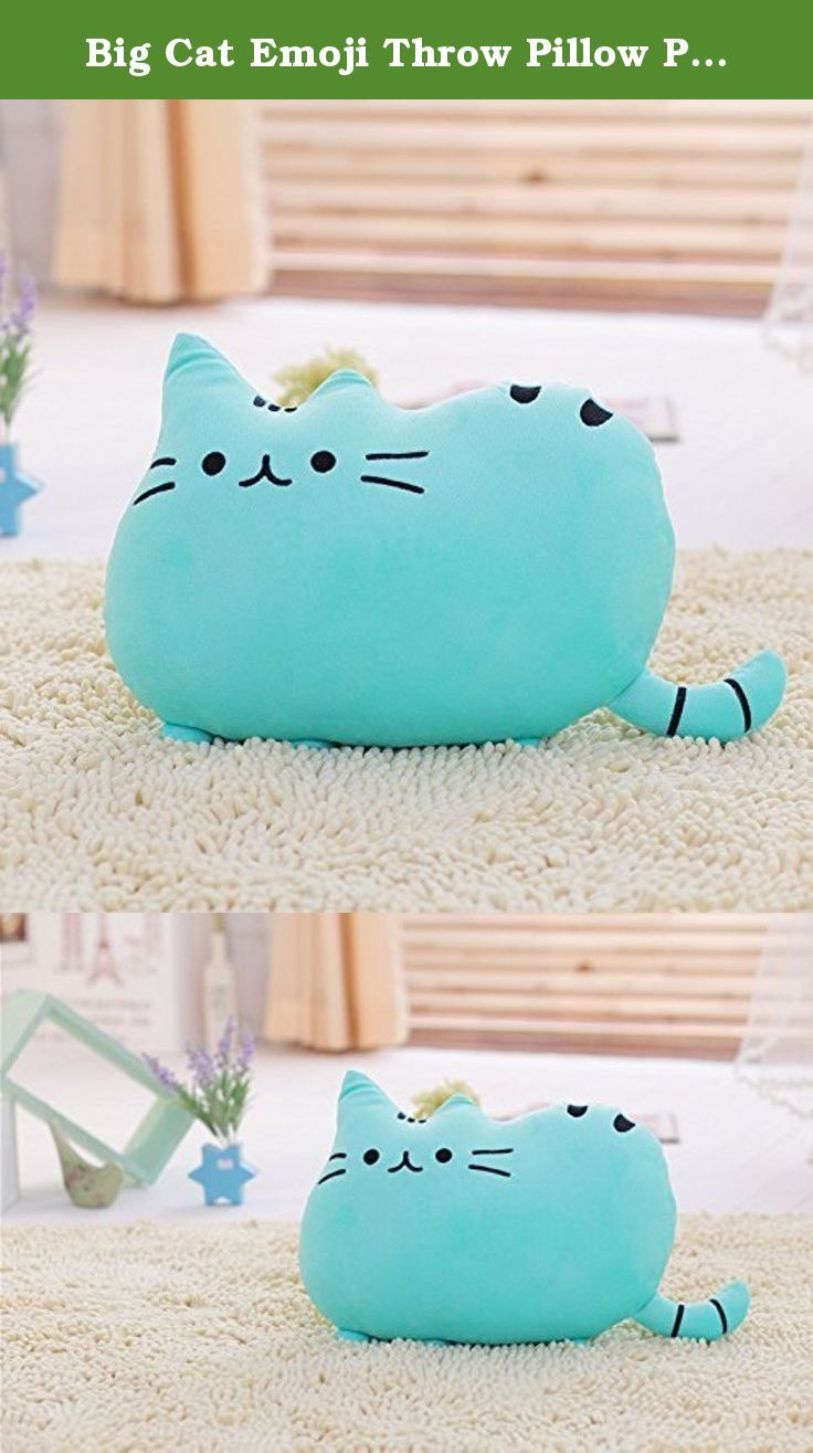 Big Cat Emoji Throw Pillow Pet Sofa Decorative Cushion Soft Plush Toy Doll 15inches 1pc (Blue). Features: -Super lovely cat pillow, Looks so cute and delicate. -Plush toys for kids. -Perfect home and Patio decoration. - It can be used as pillow, chair pads, back cushion and toy or purely decorative. -buy one for your friends or your beloved. - Note: 1. Items are measured by hand, there will be a slight deviation. Hope you understand. 2. The item color displayed may be slightly different…
