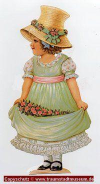 Anziehpuppe Lady Anne - Reizende viktorianische Lady Sammleredition ausgestanzt Paperdoll Replic