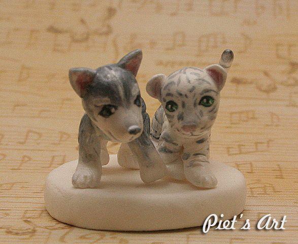 Mini Husky and Mini White Tiger