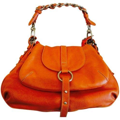 Doppia borsa con manico staccabile da usare separate o insieme arancio