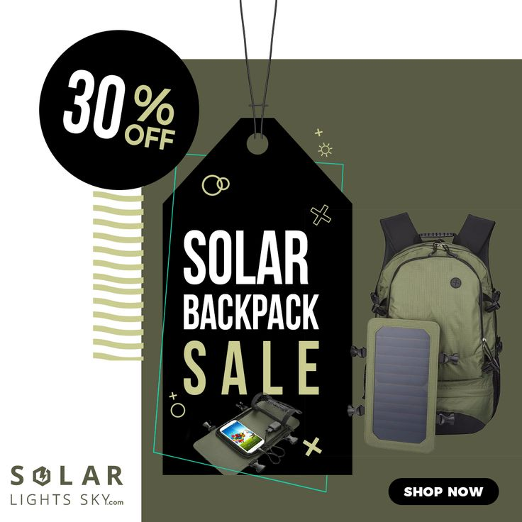 Solar Backpack Cycling Climbing Hiking Travel Solar Power Backpack with Solar Panel Bottle Bag Men and Women Laptop Bag. UP TO 30% OFF + Worldwide free shipping