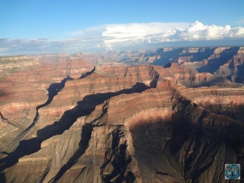 One of the world's natural wonders, the magnificent Grand Canyon from USA is best to be seen from a helicopter ride high above it