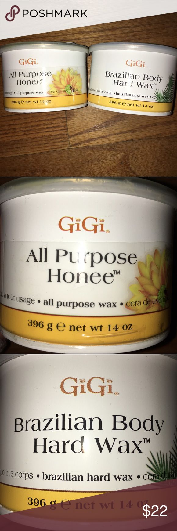 GiGi hot waxes All purpose honey- great for sensitive skin. & Brazilian Hard wax- amazing for thick stubborn hairs. Both have been open and used once or twice, but each are more than 90% full. Will include *free* spare applicators & wax strips. (See photo) GiGi Makeup