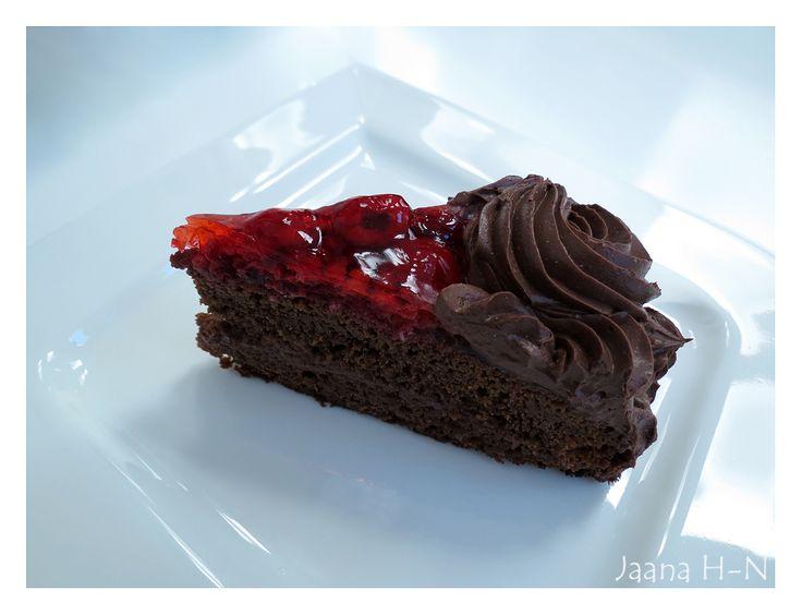 Raspberry chocolate cake.