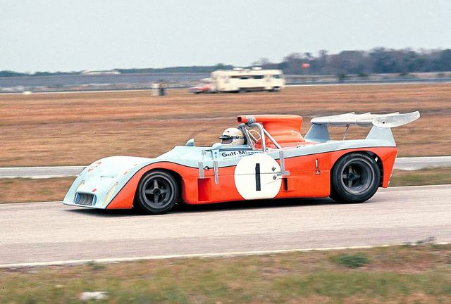 1973 Daytona 24, Howden Ganley drives the Gulf Mirage M6 Ford that captured the pole position. | Flickr - Photo Sharing!