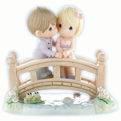 "Precious Moments ""Our Love Is The Bridge To Happiness"" Figurine $125.00"