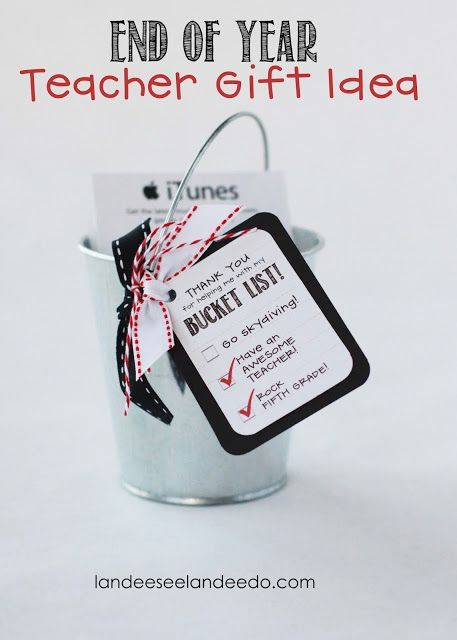 Teacher Gift Idea: Bucket List
