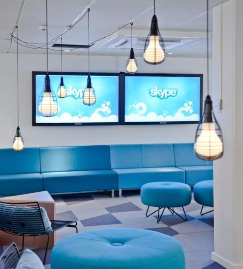 La nuova sede di Skype, a #Stoccolma, è stata ricavata da una ex-fabbrica di birra.