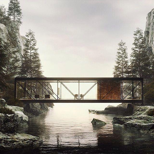 "A Designer's Mind (@adesignersmind) auf Instagram: ""I love seeing modernist structures set amidst the ruggedness of nature. It makes me think of…"" #architektur #architecture"