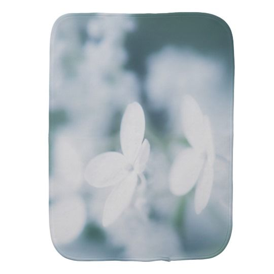 Beautiful white blossoms burp cloth. photo, photography, artwork, buy,  hydrangea, blossom, blossoms, bloom, blooming,  flower, flowers, tender, love, summer, garden, white, light, spring, floral, macro, close-up,  blue, green, kids, burp cloth