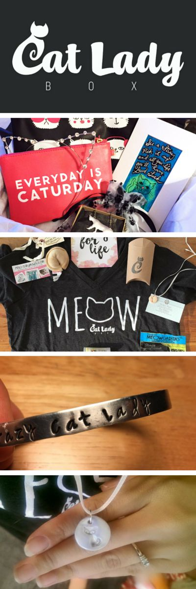 CatLadyBox is the first-ever monthly subscription box just for cat ladies! Cat-themed jewelry, clothes, accessories, decor, books and more for you, delivered in a box your cat can keep (of course). http://www.catladybox.com