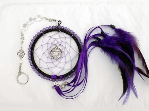 Dream catchers. Custom made with beaded boarder and traditional weave. In a colour of your choosing.