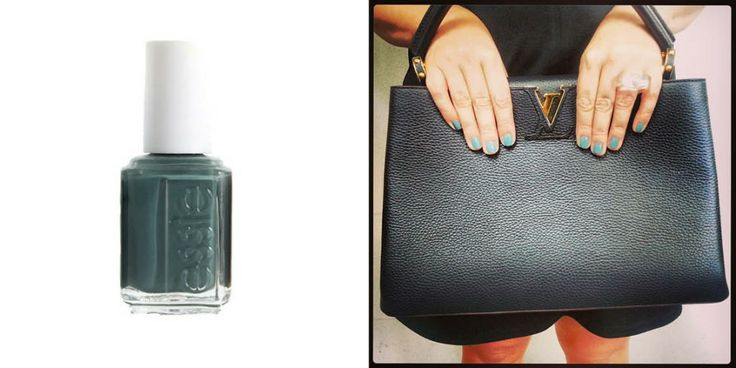 Marisa, our online content producer paired Essie, Vested Interest with a Louis Vuitton bag