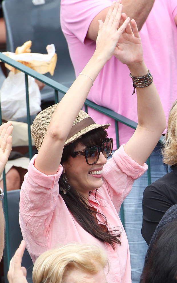 Nolwenn encourage son chéri à Roland Garros, en 2012
