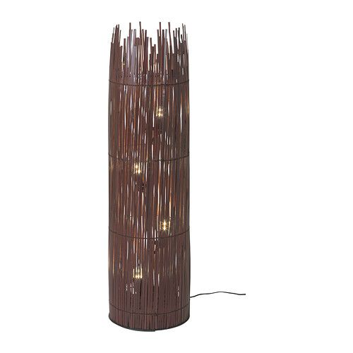IKEA - ROTVIK, Floor lamp, The light shines through the bamboo and creates spectacular effects on the floor and wall.When the lamp is unlit it becomes a decorative sculpture in the room.