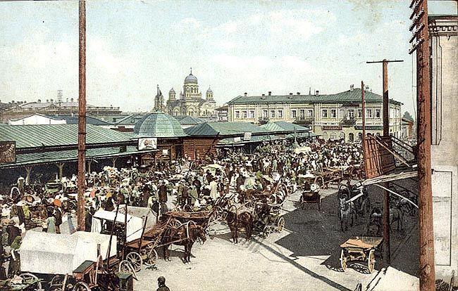 Мелочный базар в Иркутске (XIX век).